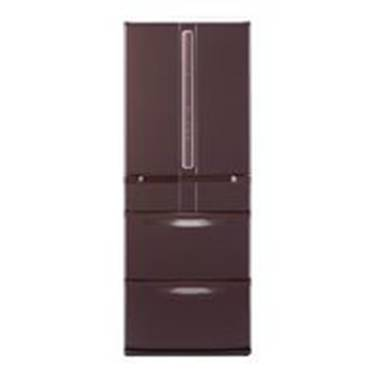Коричневый холодильник