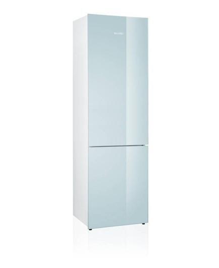 Холодильник белое стекло