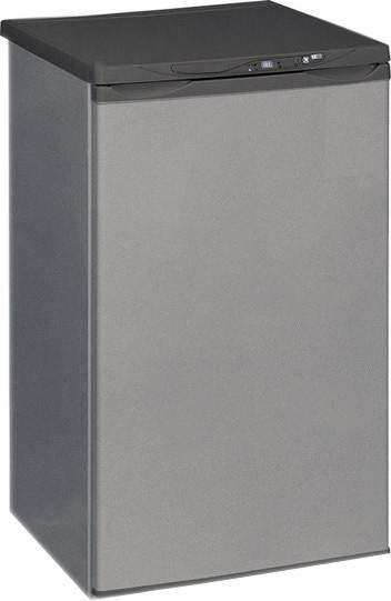 Морозильная камера серебристого цвета